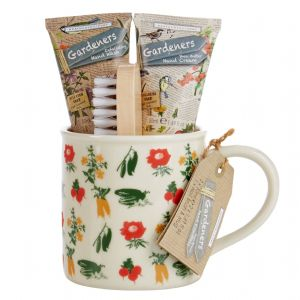 Tea Break Hand Essentials Mug - Hand Wash Cream & Brush - Gardeners Collection Heathcote & Ivory